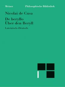 De beryllo / Über den Beryll: (Heft 2 der lateinisch-deutschen Parallelausgabe)