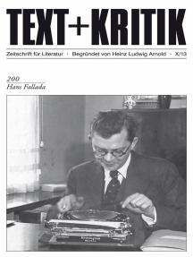 TEXT+KRITIK 200 - Hans Fallada