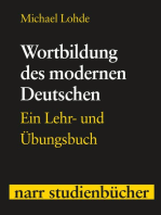 Wortbildung des modernen Deutschen: Ein Lehr- und Übungsbuch
