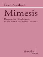 Mimesis: Dargestellte Wirklichkeit in der abendländischen Literatur