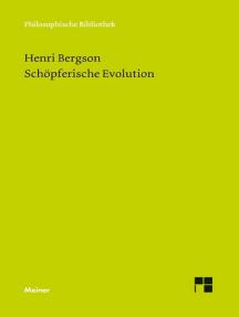 Schöpferische Evolution: L'évolution créatrice