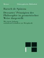 Sämtliche Werke / Descartes' Prinzipien der Philosophie auf geometrische Weise begründet