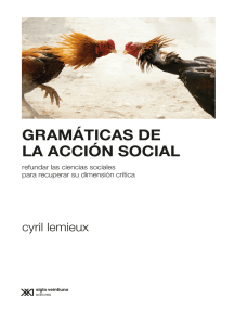 Gramáticas de la acción social: Refundar las ciencias sociales para profundizar su dimensión crítica