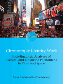 Chronotopic Identity Work: Sociolinguistic Analyses of Cultural and Linguistic Phenomena in Time and Space