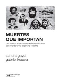 Muertes que importan: Una mirada sociohistórica sobre los casos que marcaron la Argentina reciente