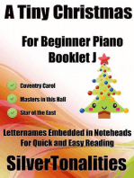 A Tiny Christmas for Beginner Piano Booklet J – Coventry Carol Master In This Hall Star of the East Letter Names Embedded In Noteheads for Quick and Easy Reading