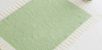 Lime Cream Knitted Baby Blanket