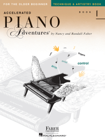 Accelerated Piano Adventures for the Older Beginner: Technique & Artistry, Book 1