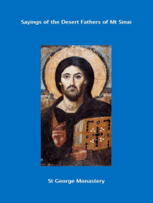 Sayings of the Desert Fathers of Mt Sinai