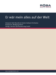 Er wär mein alles auf der Welt: as performed by Ruth Brandin, Single Songbook