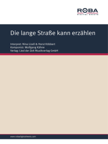 Die lange Straße kann erzählen: as performed by Nina Lizell & Horst Köbbert, Single Songbook