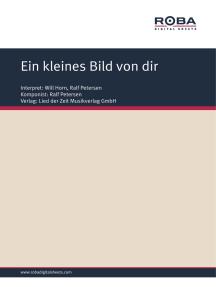 Ein kleines Bild von dir: Single Songbook; as performed by Will Horn, Andreas Holm