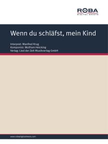 Wenn du schläfst, mein Kind: Single Songbook; as performed by Manfred Krug