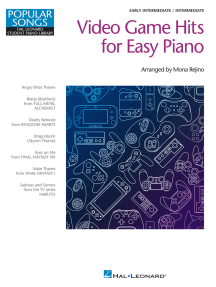 Video Game Hits for Easy Piano - Popular Songs Series: Early Intermediate