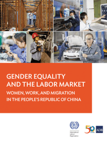 Gender Equality and the Labor Market: Women, Work, and Migration in the People's Republic of China