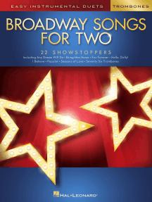 Broadway Songs for Two Trombones: Easy Instrumental Duets