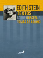 Textos sobre Husserl e Tomás de Aquino