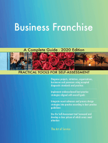 Business Franchise A Complete Guide - 2020 Edition