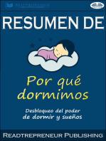 Resumen De Por Qué Dormimos