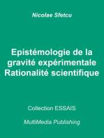 Epistémologie de la gravité expérimentale: Rationalité scientifique