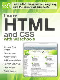 Learn HTML and CSS with w3Schools