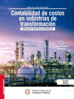 Contabilidad de costos en industrias de Transformación: Manual teórico-práctico