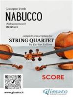 Nabucco (overture) String Quartet - Score