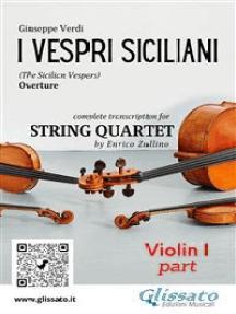 I Vespri Siciliani (overture) String quartet set of parts: The Sicilian Vespers