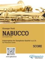 Nabucco - Saxophone Quartet score & parts