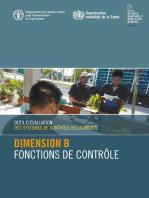 Outil d'évaluation des systèmes de contrôle des aliments: Dimension B – Fonctions de contrôle