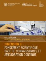 Outil d'évaluation des systèmes de contrôle des aliments: Dimension D – Fondement scientifique, base de connaissances et amélioration continue