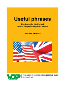 Englisch für die Polizei / Useful phrases: Deutsch – Englisch / Englisch – Deutsch