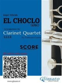 El Choclo - Clarinet Quartet score & parts: Tango