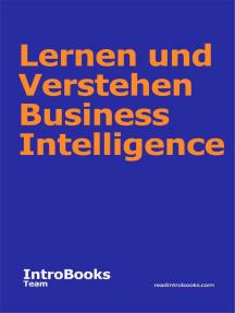 Lernen und Verstehen Business Intelligence