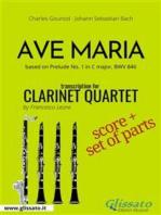 Ave Maria (Gounod) - Clarinet Quartet score & parts