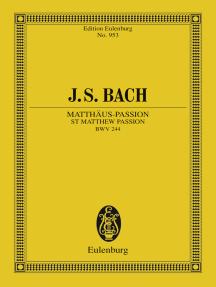 St Matthew Passion: BWV 244