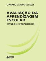 Avaliação da aprendizagem escolar: Estudos e proposições