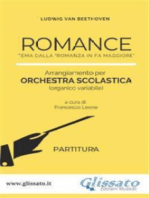 """Romance - Orchestra scolastica (partitura): tema dalla """"Romanza in Fa Maggiore"""""""