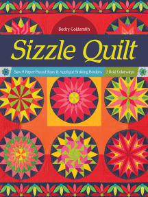 Sizzle Quilt: Sew 9 Paper-Pieced Stars & Appliqué Striking Borders; 2 Bold Colorways