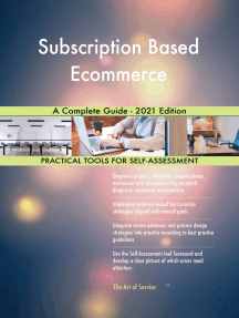 Subscription Based Ecommerce A Complete Guide - 2021 Edition