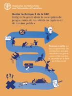 Intégrer le genre dans la conception de programmes de transferts en espèces et de travaux publics: Guide technique 2 de la FAO