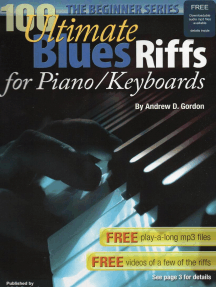 100 Ultimate Blues Riffs for Piano/Keyboards, the Beginner Series: 100 Ultimate Blues Riffs Beginner Series