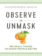 Observe to Unmask: 100 Small Things to Know People Better