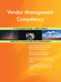 Vendor Management Competency A Complete Guide - 2021 Edition