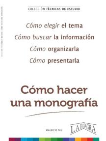 Cómo Hacer una Monografía: TÉCNICAS DE ESTUDIO