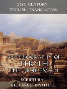 Autobiography of Thoth the Nobleman