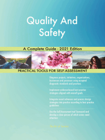 Quality And Safety A Complete Guide - 2021 Edition