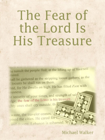 The Fear of the Lord Is His Treasure