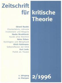 Zeitschrift für kritische Theorie / Zeitschrift für kritische Theorie, Heft 2: 2. Jahrgang (1996)