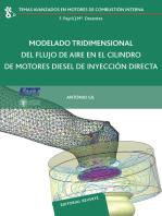Modelado tridimensional del flujo de aire en el cilindro de motores diesel de inyección directa